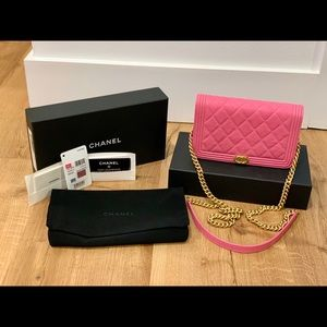 2019 Chanel Caviar Quilted Boy WOC